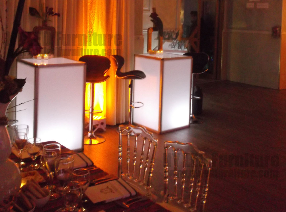 LED Light Up Table Rental NYC