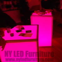 LED Event Cocktail Table Rental