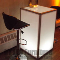 LED Lighted Table Rental NYC