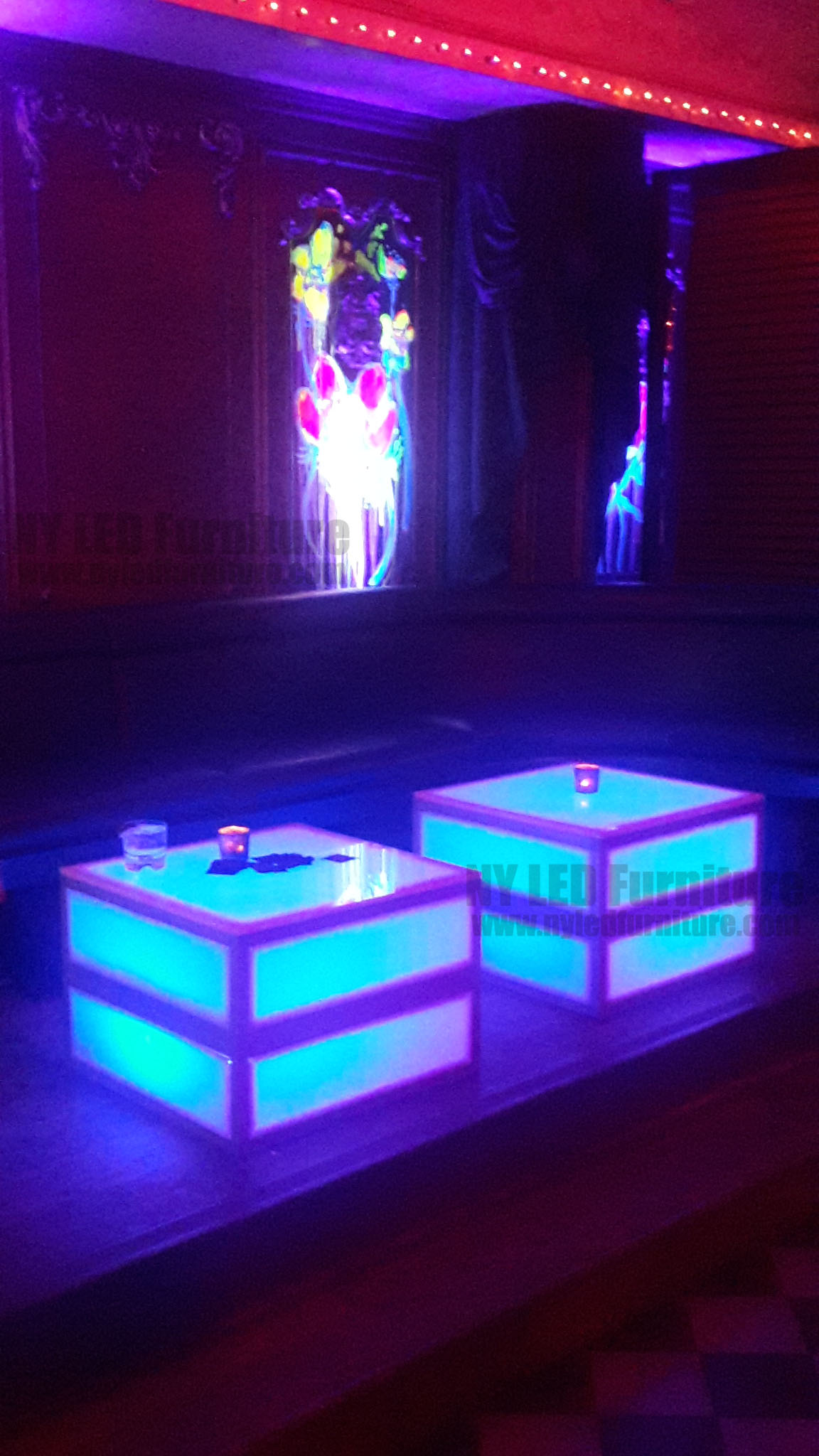 LED Party Coffee Table Rental NYC