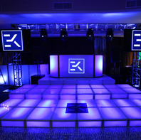 Multi Level LED Dance Stage Rental Long Island