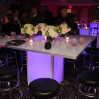 Glowing LED Banquet Table