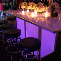 Rental LED Banquet Table