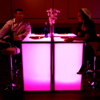 Large Lit Up LED Tables For Rent in NYC