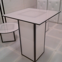 White Acrylic LED Cocktail Table sales in NYC