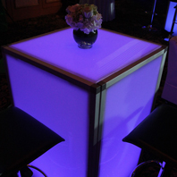 Rent Dimmed LED Lighting Tables NYC