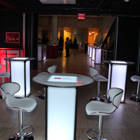 NJ Corporate Rental Party LED Furniture