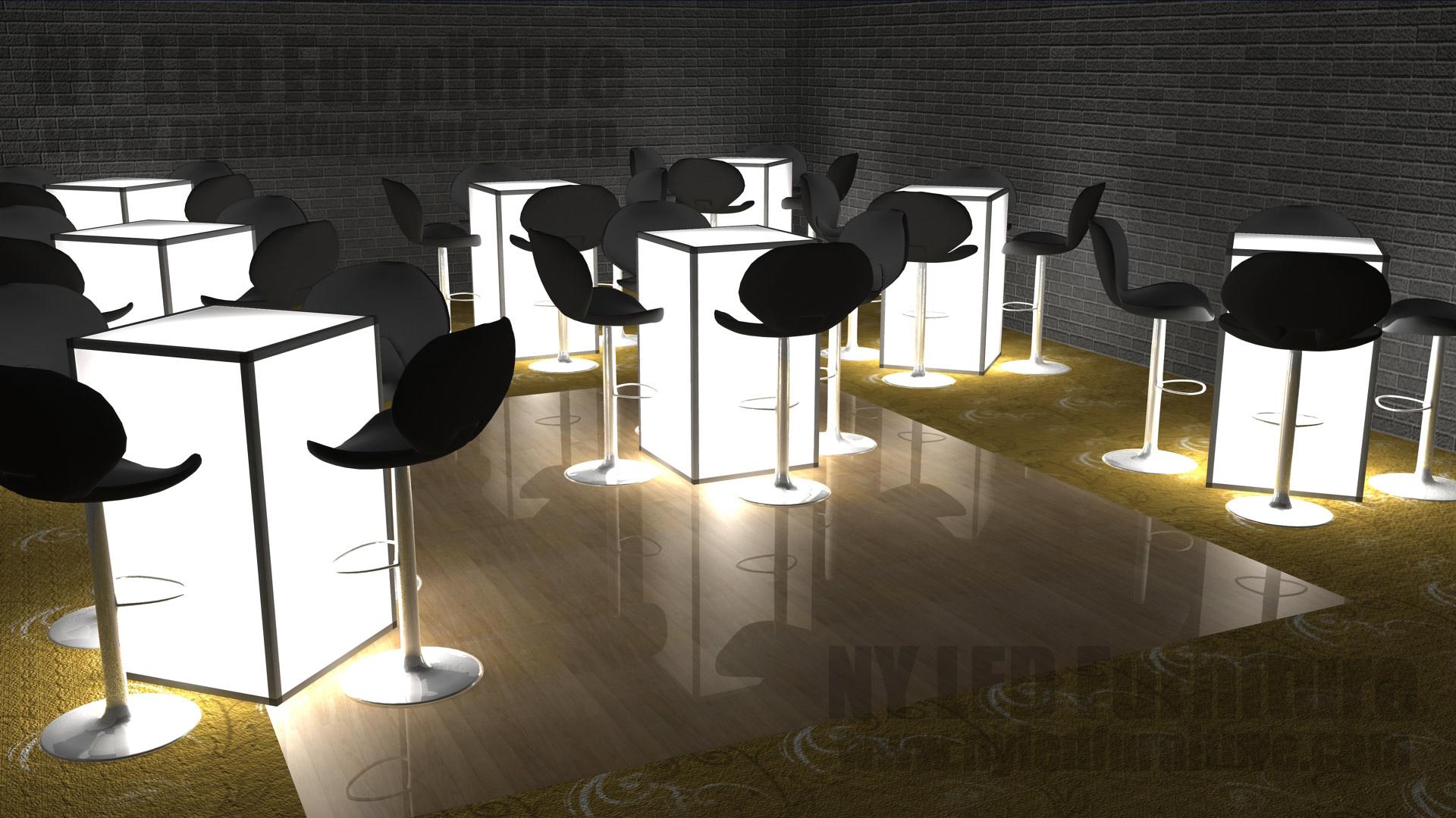 Led Table Rental Manhattan Light Up Event Furniture Rental Manhattan Ny