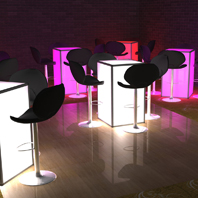 LED Cocktail Table Rental NYC - Brooklyn