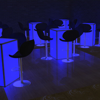 Nassau County, NY - LED Cocktail Table Rental