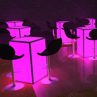 Rental LED Cocktail Tables - Suffolk County, NY